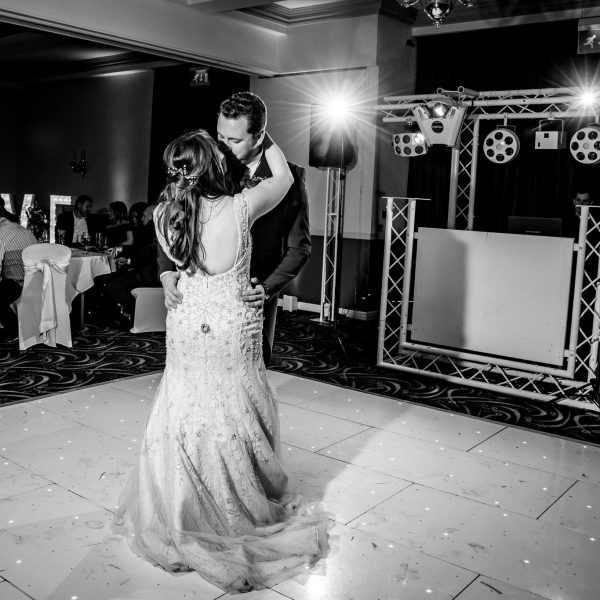 Leeds Wedding Photography at Tankersley Manor, South Yorkshire with sparkler shot. Dog at wedding and natural photography.